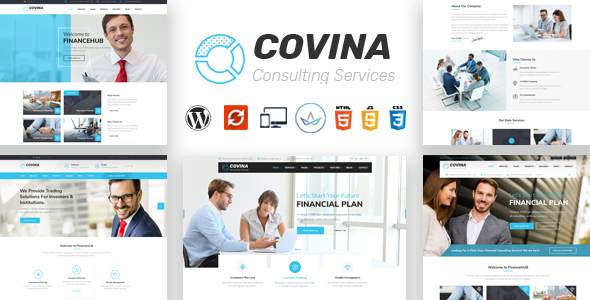 قالب Covina - قالب وردپرس مشاوره کسب و کار و خدمات حرفه ای