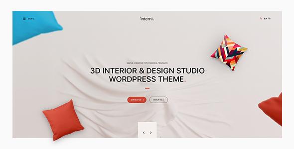 قالب Interni - قالب وردپرس استودیو طراحی و دکوراسیون داخلی