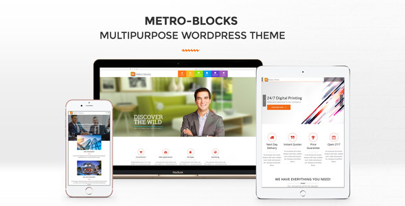 قالب Metro-Blocks - قالب وردپرس چند کسب و کار