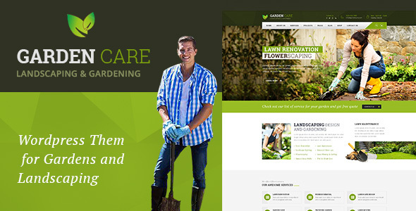 قالب Garden Care - قالب وردپرس باغبانی و محوطه سازی