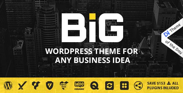 قالب B.I.G - پوسته وردپرس برای ایده کسب و کار