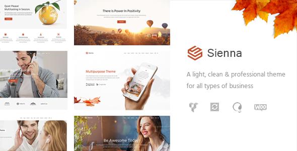 قالب Sienna - قالب وردپرس کسب و کار چند منظوره