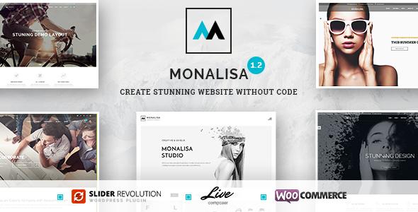 قالب Monalisa - قالب وردپرس چند منظوره و خلاق