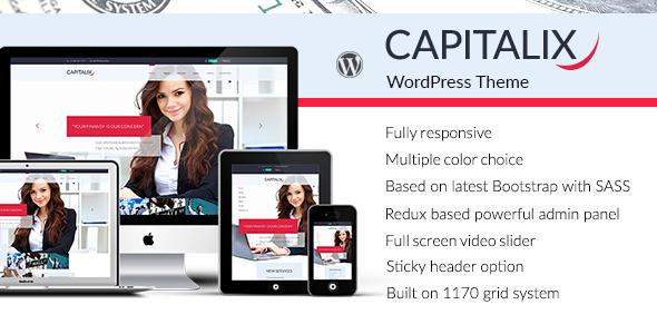قالب Capitalix - قالب وردپرس سایت مالی