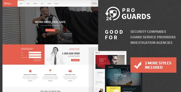 ProGuards - قالب وردپرس امنیت و ایمنی