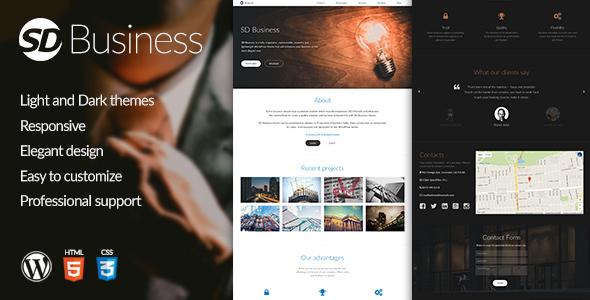 قالب SD Business - قالب وردپرس ریسپانسیو