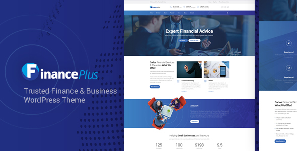 قالب FinancePlus - قالب وردپرس مالی و کسب و کار
