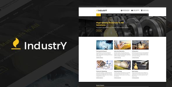 قالب Industry - قالب وردپرس کارخانه، شرکت و صنعت