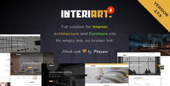 قالب InteriArt - قالب وردپرس مبلمان و طراحی داخلی