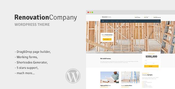 قالب شرکت نوسازی | Renovation Company - قالب وردپرس ساخت و ساز