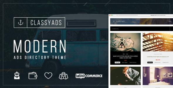 ClassyAds - قالب وردپرس تبلیغات