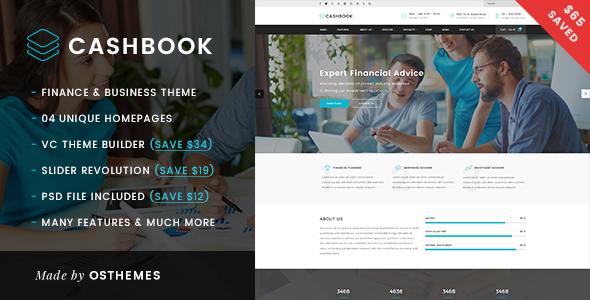 قالب Cashbook - قالب وردپرس کسب و کار و سرمایه گذاری