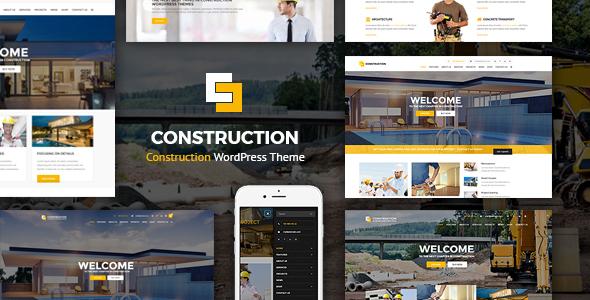 قالب Construction - قالب وردپرس
