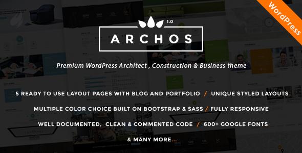 قالب Archos - قالب سایت معماری و ساخت و ساز