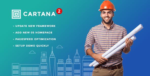 قالب Cartana - قالب وردپرس ساختمان و ساخت و ساز