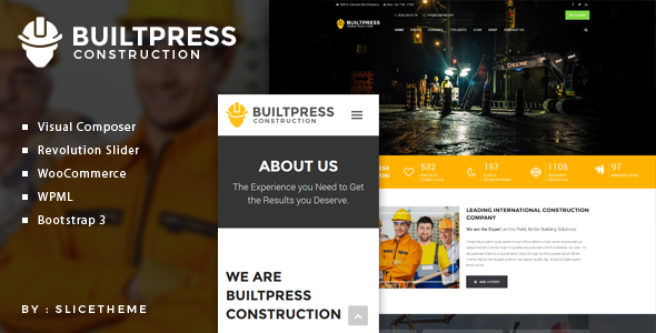 قالب BuiltPress - قالب وردپرس ساخت و ساز ساختمان