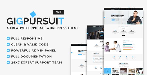 قالب GigPursuit - قالب شرکتی وردپرس