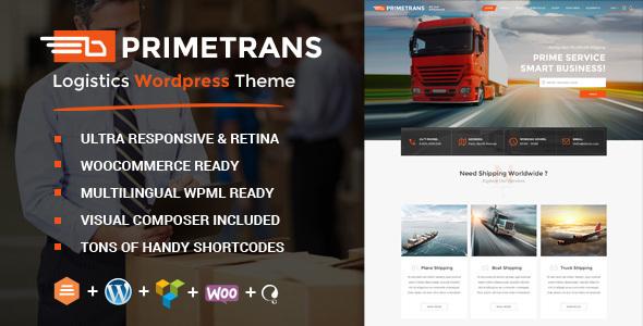 قالب PrimeTrans - قالب وردپرس سایت شرکت حمل و نقل