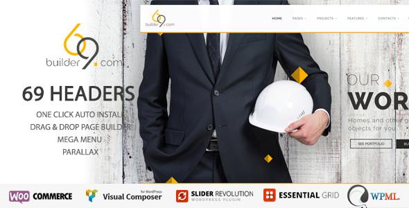 قالب builder69 - قالب وردپرس ساخت و ساز، ساختمان