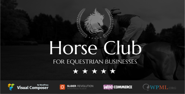 قالب Horse Club - قالب وردپرس سوارکاری