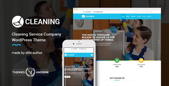قالب Cleaning - قالب وردپرس سایت شرکت خدماتی