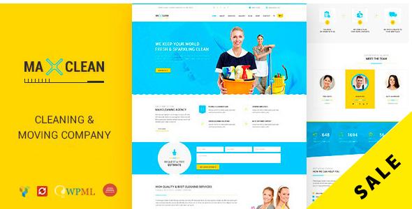 قالب Max Cleaners & Movers - قالب سایت شرکتی ساده