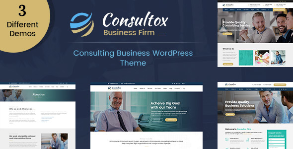 قالب Consultox - پوسته وردپرس مشاوره کسب و کار