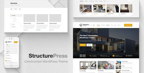 قالب StructurePress - پوسته وردپرس ساخت و ساز و معماری