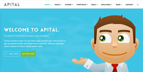 قالب Apital - قالب وردپرس کسب و کار شرکتی