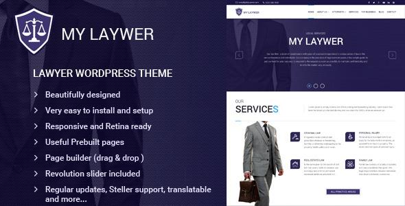 قالب MyLawyer - قالب وردپرس وکالت