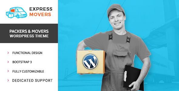 قالب Express Movers - قالب وردپرس شرکت فیلم سازی