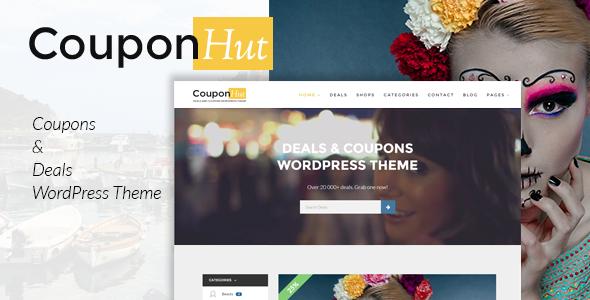 CouponHut - قالب وردپرس کوپن ها و تخفیف ها