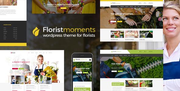 قالب Florist - قالب وردپرس سایت گل فروشی