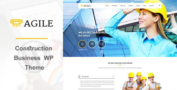 قالب Agile - قالب وردپرس ساخت و ساز ساختمان