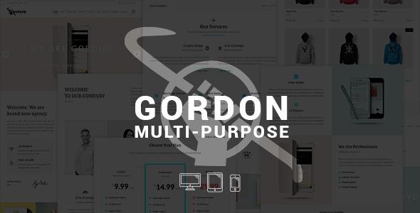 قالب GORDON - قالب چند منظوره وردپرس