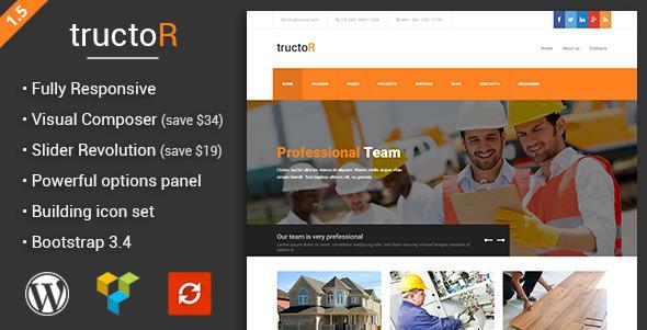 قالب Tructor - قالب وردپرس شرکت معماری و ساختمانی