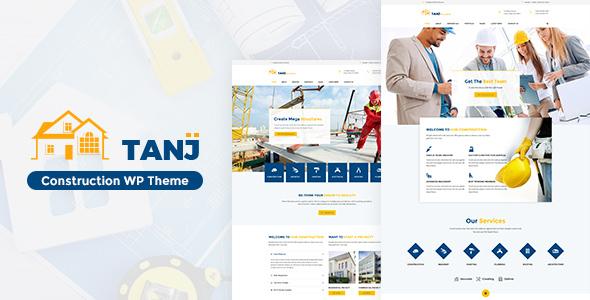 قالب Tanj Construction - قالب وردپرس سایت معماری و ساخت و ساز