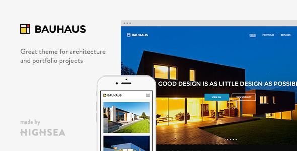 قالب Bauhaus - قالب وردپرس معماری و نمونه کار