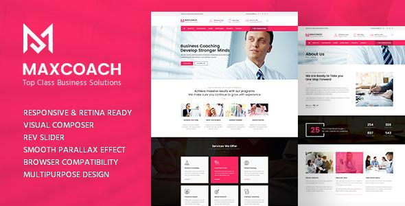 قالب Maxcoach - قالب وردپرس مشاوره کسب و کار