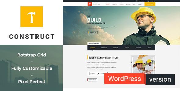 قالب Construct - قالب وردپرس ساخت و ساز، ساختمان