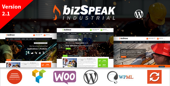BizSpeak - قالب ورپرس صنعتی