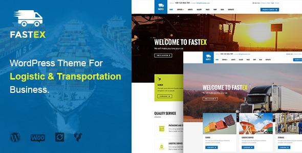 قالب FastEx - قالب وردپرس سایت شرکت حمل و نقل