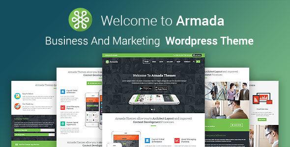 قالب ARMADA - قالب وردپرس کسب و کار و بازاریابی