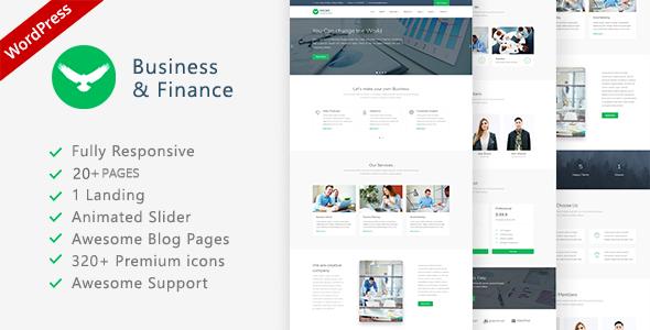 قالب Proffs - قالب وردپرس کسب و کار و سرمایه گذاری