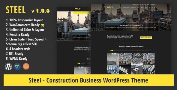 قالب STEEL - قالب وردپرس کسب و کار ساختمانی