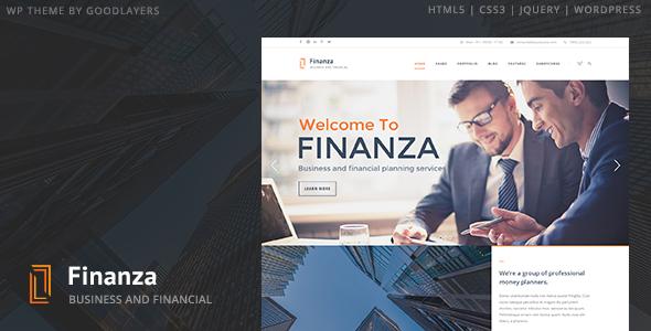 قالب Finanza - قالب وردپرس کسب و کار مالی