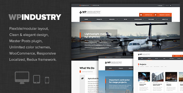 قالب WP Industry - قالب وردپرس مهندسی و صنعتی