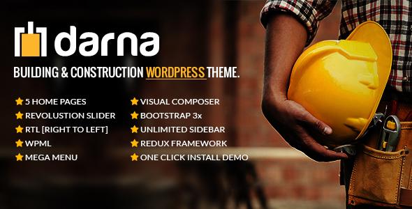 دارنا | Darna - قالب وردپرس ساخت و ساز ساختمان
