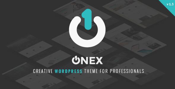 قالب OneX - قالب نمونه کار وردپرس