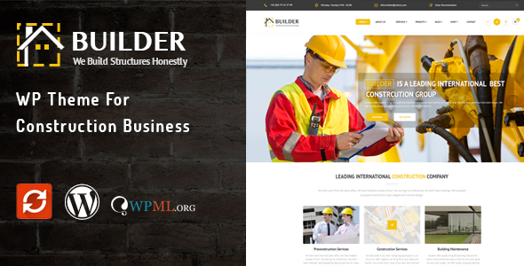 Builder - قالب وردپرس کسب و کار ساختمانی